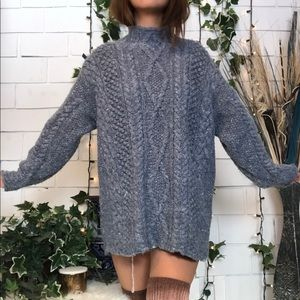 Vintage Express Mock Neck knit sweater